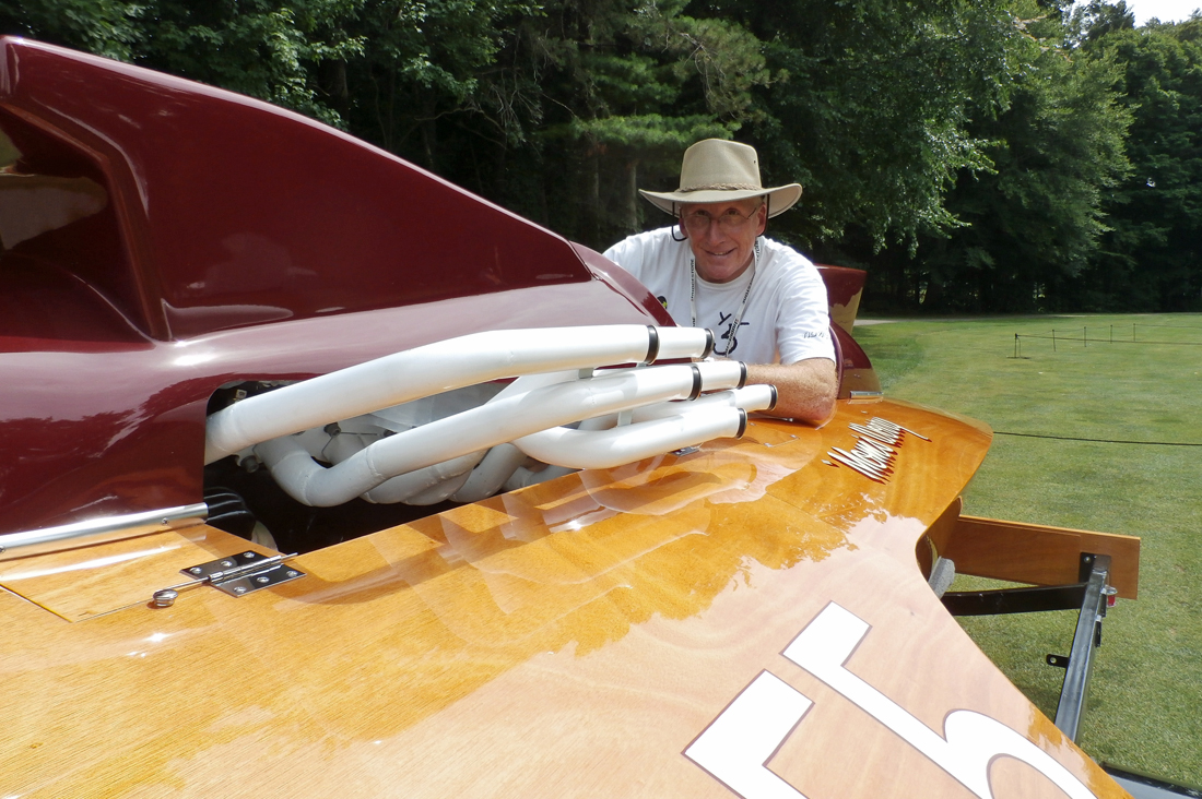 Mark Wheeler and the family's restored A-55.
